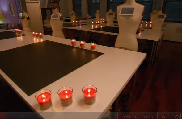 Glade candles on a table