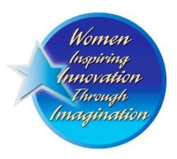 Women's History Month Logo: Women Inspiring Innovation Through Imagination