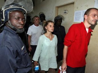 Emilie Lelouche and Eric Breteau in Chad, 2007