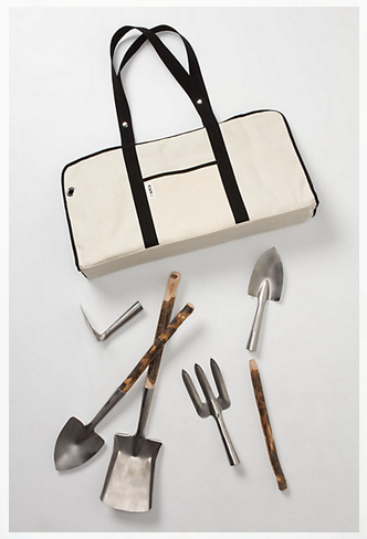 Garden tools and storage bag from anthropologie