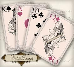 Four playing cards