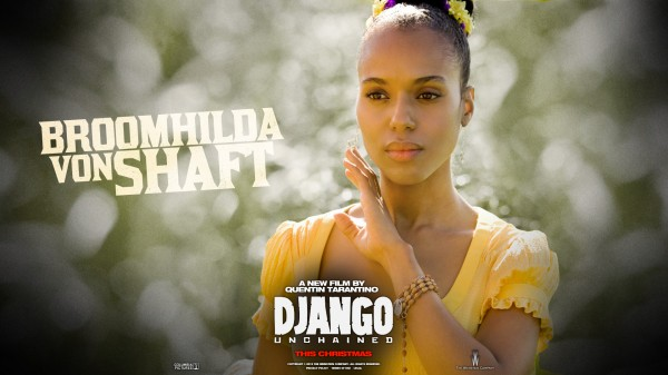 Django Unchained poster with Kerry Washington as Broomhilda von Shaft