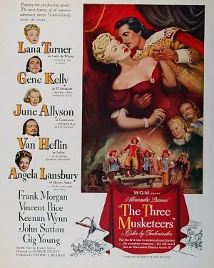 Poster from The Three Musketeers.