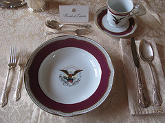 Presidential place setting.