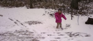 Ruthie playing in the snow