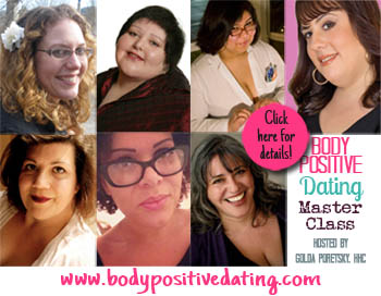 Collage of the Body Positive Dating Master Class speakers, hosted by Golda Poretsky