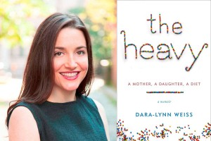 Author Dara-Lynn Weiss and the cover of her book The Heavy