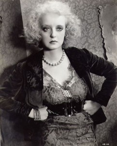 "Promo picture for ""Of Human Bondage"" of Bette Davis as Mildred"