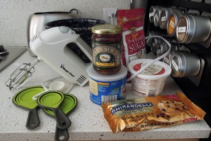 Ingredients and kitchen gadgets needed for recipe