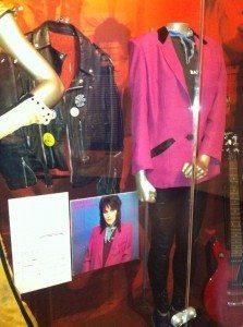 Joan Jett display in 'Women Who Rock' exhibit