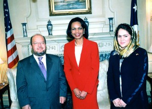 Condoleeza Rice meets with Fawzia Koofi and Sayed Hamed Gailani