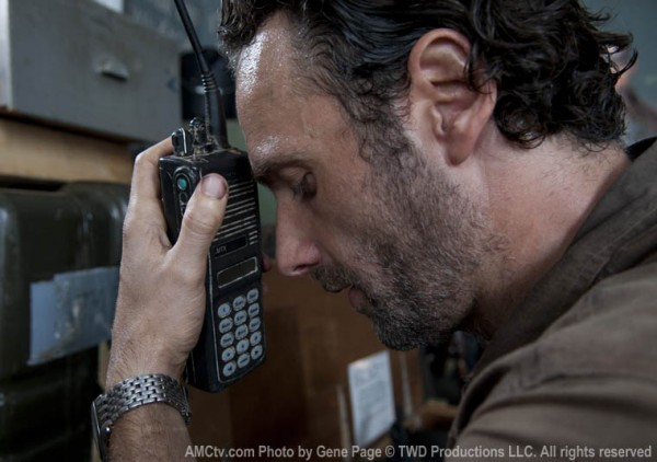 Rick finds the walkie.