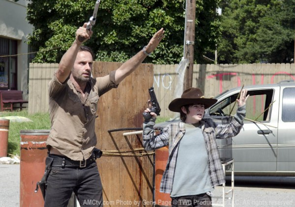 Rick and Carl surrender.