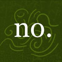 "Text art reading ""no."""