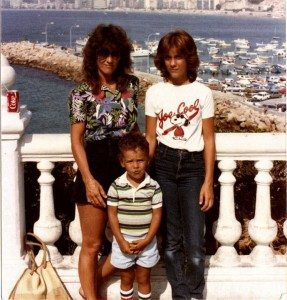 Me, my mom, and my kid brother in Spain