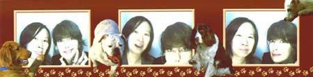 Photobooth images of Malinda Lo and Lena Headey