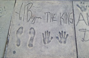 Yul Brynner's autograph, handprints, and footprints in concrete