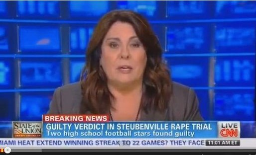 Screencap of Cindy Crowley announcing the guilty verdict on CNN
