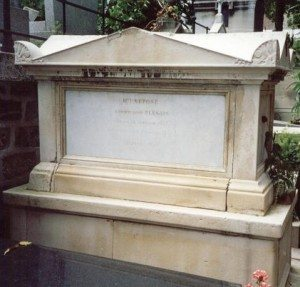 Marie's tomb.