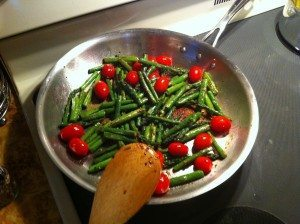 Sauteed Asparagus with Tomatoes