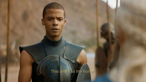 Grey Worm introduces himself to Dany