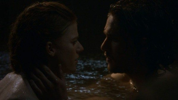 Jon and Ygritte in the hot spring