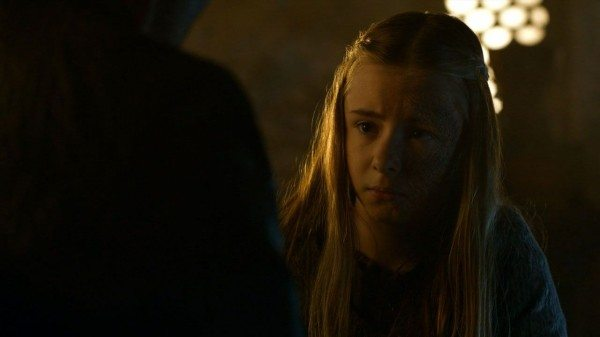 Shireen is upset to learn that Davos is now a traitor