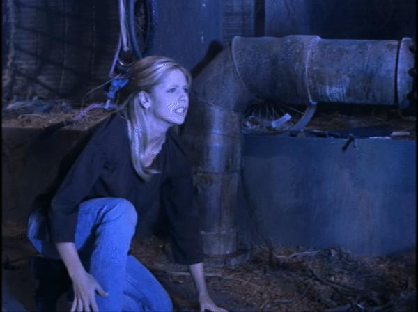 Buffy crouches