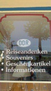 Shop window advertising GDR souvenirs