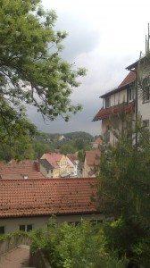 View over town center in Brandenburg