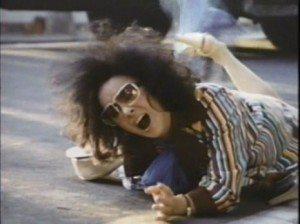 Liz Taylor, having fallen on the ground
