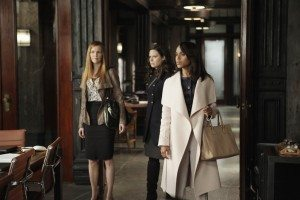 Olivia, Abby and Quinn walk into the office and see Charlie holding David Rosen at gunpoint.
