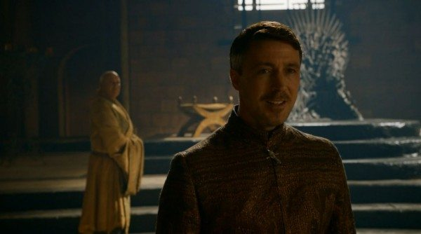 Littlefinger walks away from Varys and the Iron Throne