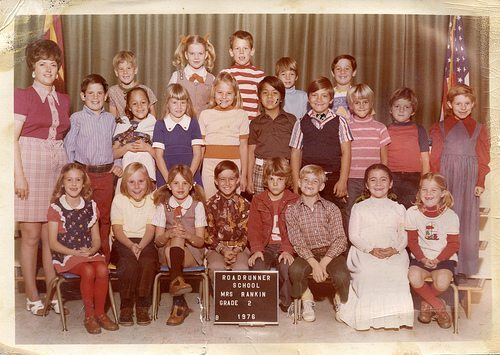 Classroom photo from the 1970s