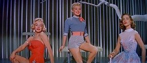 Lauren Bacall, Marilyn Monroe, and Betty Grable pose in How to Marry a Millionaire
