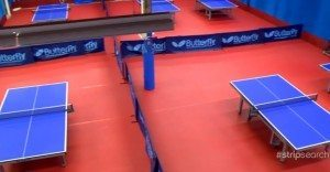 Table tennis facility with multiple tables