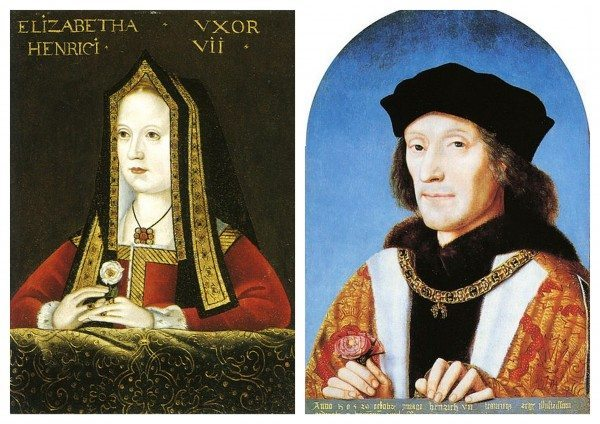 Portraits of Elizabeth of York and Henry VII