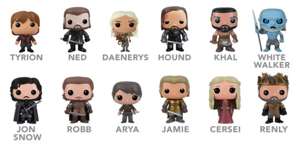 Cast of HBO's Game of Thrones, in tiny vinyl action figure form.