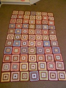 granny squares laid out in pattern