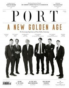 "Cover of Port magazine issue touting ""A New Golden Age"" and picturing six white men"
