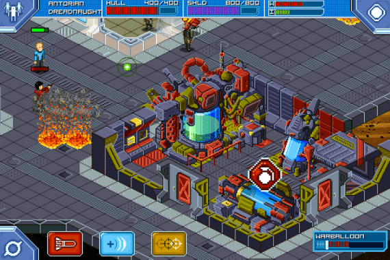 Screenshot from Star Command game app by Warballoon.