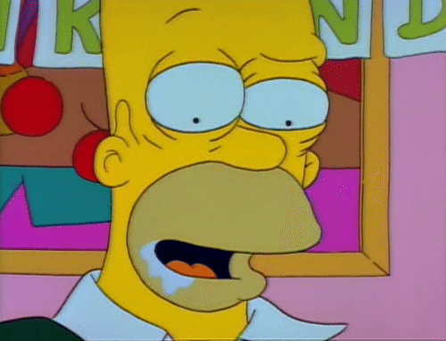 Still from The Simpsons of Homer drooling