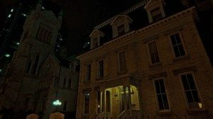 Hannibal's house at night. Screen shot from NBC Hannibal.