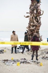 Corpse tower image from NBC's Hannibal.