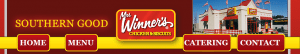 Banner for the defunct website of the defunct restaurant Mrs. Winner's Chicken and Biscuits.