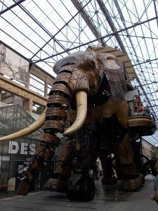 An image of the giant elephant of Nantes.
