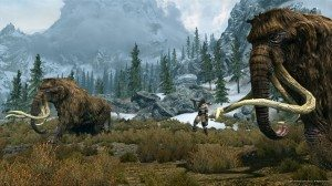 Mammoths and Giant in The Elder Scrolls V: Skyrim