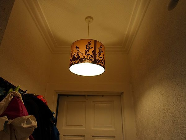A picture of a ceiling light.