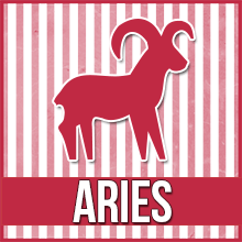 "An image of a clip art ram that reads ""Aries"""