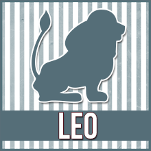 "An image of a clip art lion which reads ""Leo"""